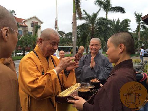 2016年台湾中国佛教会理事长圆宗长老一行莅临进明寺