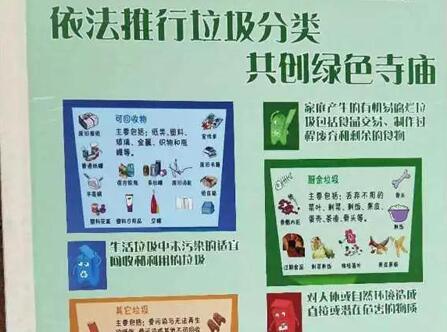 厦门观音寺:依法推行垃圾分类,共创绿色寺庙