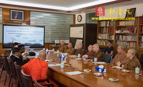 斯里兰卡佩拉德尼亚大学人文和社会科学研究所一行到厦门闽南佛学院参访交流