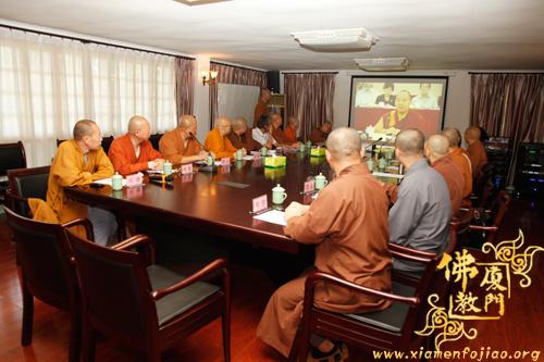 厦门市佛教协会集中学习《中国佛教协会关于自觉抵制佛教领域商业化不良影响的通知》等相关文件资料