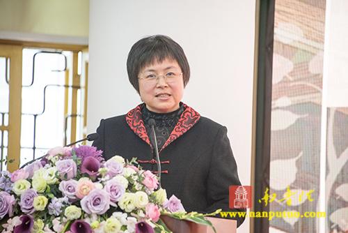 厦门南普陀寺慈善会2018年终总结大会市民政局副局长李丽红致辞