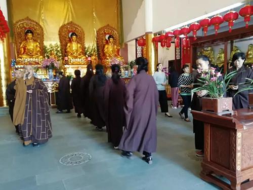 进明寺己亥年二月十五纪念释迦牟尼佛涅槃法会