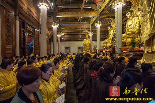 南普陀寺全体僧众虔诵《普门品》恭迎观世音菩萨圣诞
