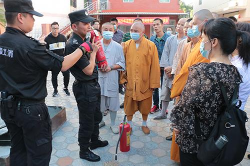 湖里区各佛教寺院参加区民宗局开展的2020年消防安全培训活动
