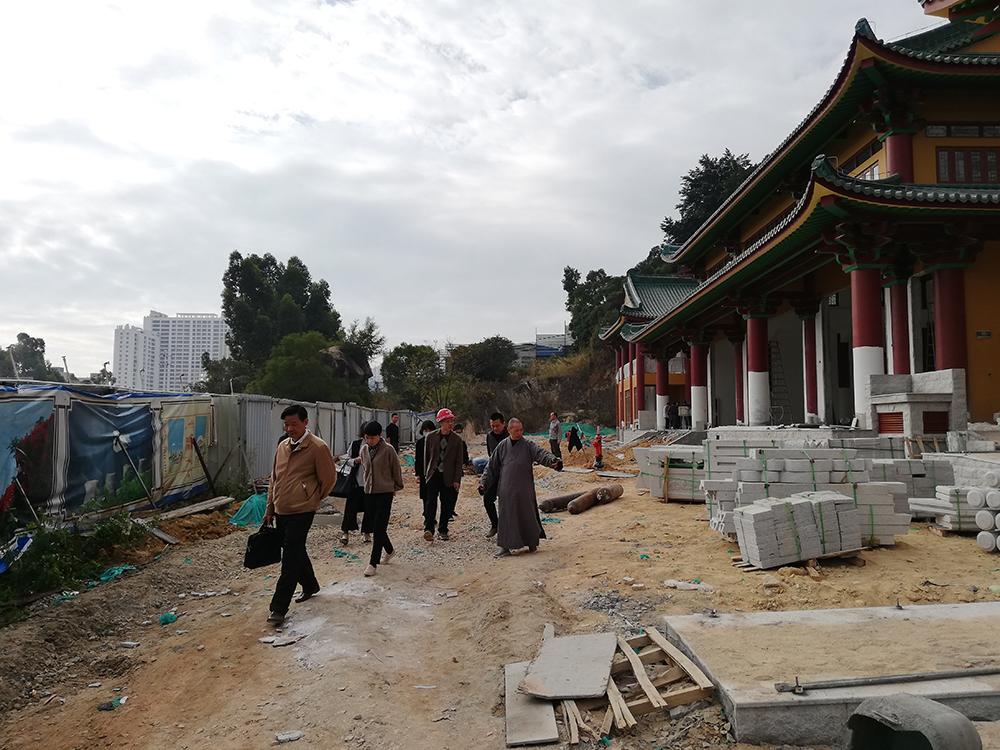 市民宗局领导走访关心延寿寺和妙释寺易地重建进展情…