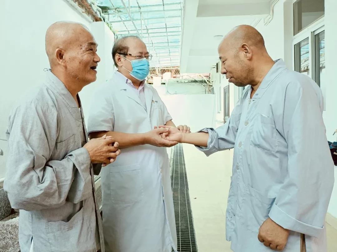 南普陀中医院杨叔禹、闫冰院长到如意寮巡诊